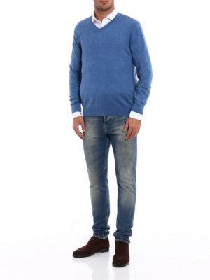 Michael Kors: v necks online - Extra fine merino wool sweater