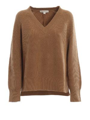 MICHAEL KORS: v necks - V-neck wool blend sweater