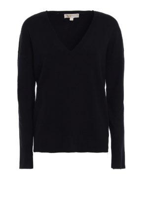Michael Kors: v necks - Viscose blend over sweater