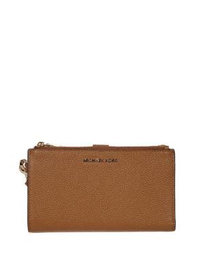 MICHAEL KORS: portafogli - Portafoglio Adele in pelle martellata con zip