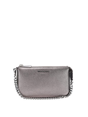 Michael Kors: wallets & purses - Jet Set gunmetal wristlet purse