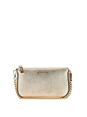 Michael Kors: wallets & purses - Jet Set pale gold wristlet purse