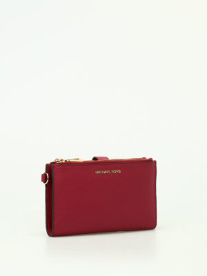 Michael Kors: wallets & purses online - Adele mulberry double zip wallet