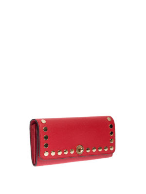 Michael Kors: wallets & purses online - Studded leather flap wallet