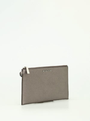 Michael Kors: wallets & purses online - Wristlet gun metal flat purse