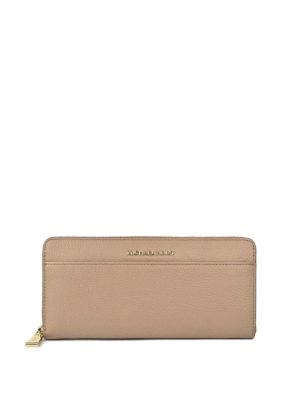MICHAEL KORS: portafogli - Portafoglio continental in pelle a grana rosa