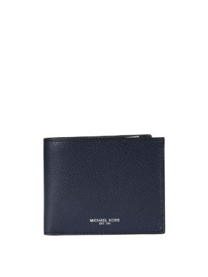 Michael Kors: wallets & purses - Silver-tone logo detailed wallet