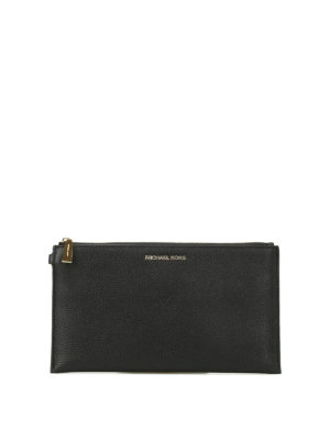 Michael Kors: wallets & purses - Wristlet black flat purse