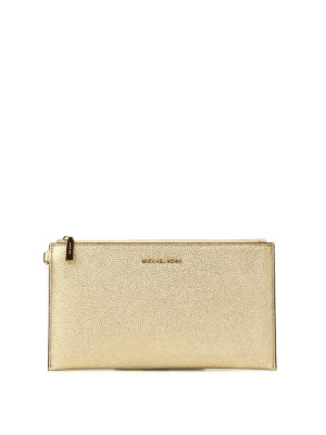 Michael Kors: wallets & purses - Wristlet gold flat purse