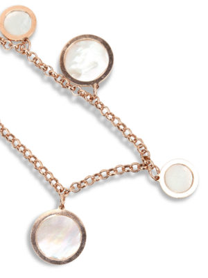 Michelangelo: Bracelets & Bangles online - Bracelet with mother-of-pearl hoops