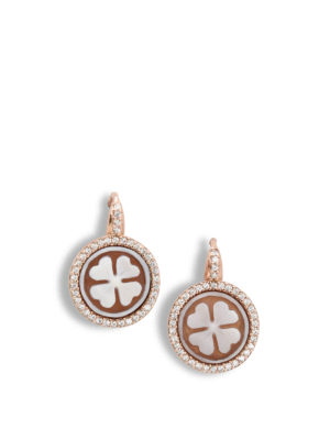 Michelangelo: Earrings - Cloverleaf cameo earrings