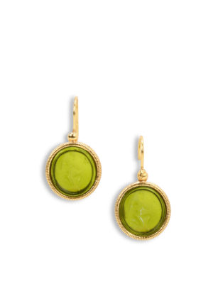 Michelangelo: Earrings - Glass paste intaglio earrings