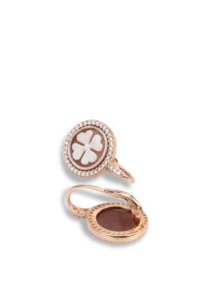 Michelangelo: Earrings online - Cloverleaf cameo earrings