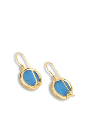 Michelangelo: Earrings online - Glass paste intaglio earrings