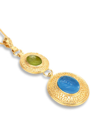 Michelangelo: Necklaces & Chokers online - Glass paste intaglio necklace