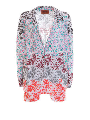 Missoni: blazers - Embroidered lace knitted blazer