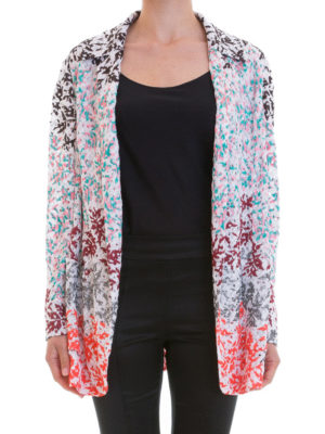 Missoni: blazers online - Embroidered lace knitted blazer