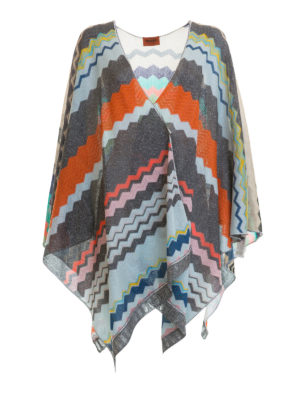 Missoni: Capes &  Ponchos - Chevron patterned lurex cape