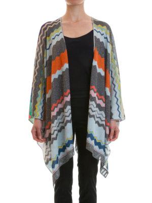 Missoni: Capes &  Ponchos online - Chevron patterned lurex cape