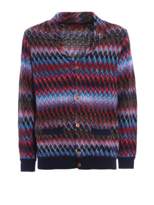 Missoni: cardigans - Chevron cotton and wool cardigan