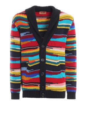 MISSONI: cardigan - Cardigan in pesante lana multicolore