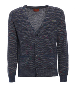 Missoni: cardigans - Multicolour wave patterned cardigan