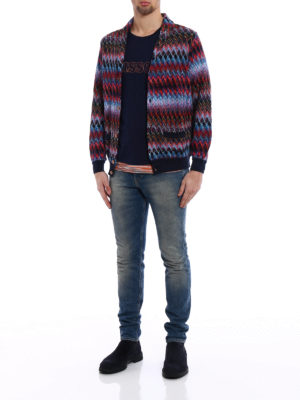 Missoni: cardigans online - Chevron cotton and wool cardigan