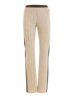 Missoni: casual trousers - Faded side bands wool trousers