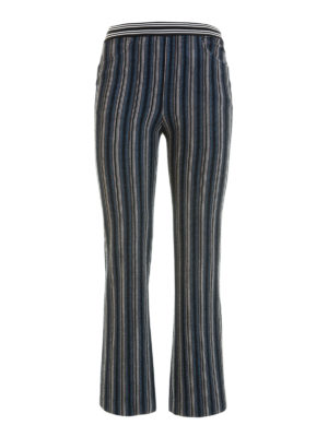 Missoni: casual trousers - Knitted wool striped trousers