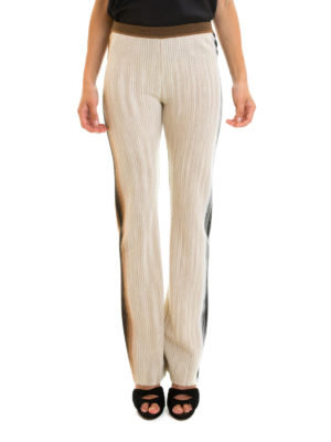 Missoni: casual trousers online - Faded side bands wool trousers