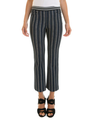 Missoni: casual trousers online - Knitted wool striped trousers