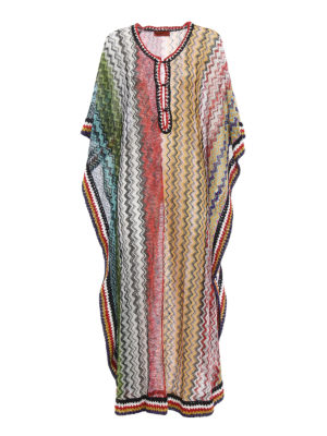 Missoni: cover-ups - Multicolour Chevron kaftan