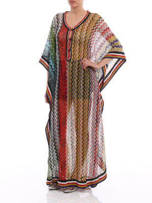 Missoni: cover-ups online - Multicolour Chevron kaftan