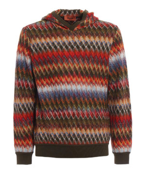 Missoni: crew necks - Chevron cotton and wool sweater