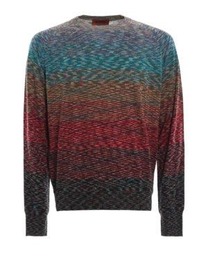MISSONI: maglia collo rotondo - Maglia girocollo in lana multicolore