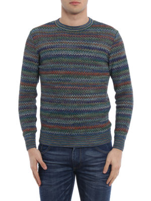 Missoni: crew necks online - Zigzag cotton blend sweater