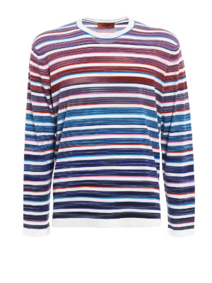 Missoni: crew necks - Striped cotton sweater