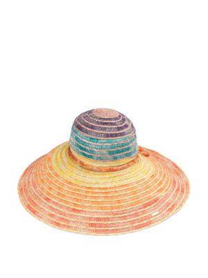 MISSONI: cappelli - Cappello in paglia multicolore