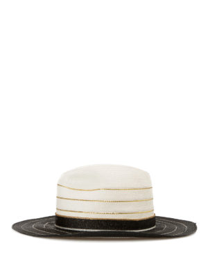 Missoni: hats & caps online - Two-tone straw hat