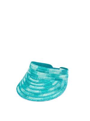 MISSONI: cappelli - Visiera in paglia turchese