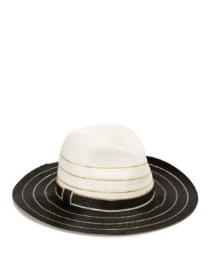 Missoni: hats & caps - Two-tone straw hat