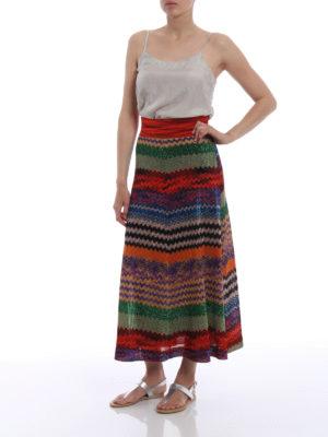 Missoni: Knee length skirts & Midi online - Multicolour Chevron skirt