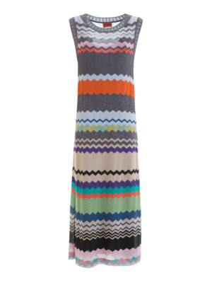 Missoni: maxi dresses - Chevron pattern straight maxi dress
