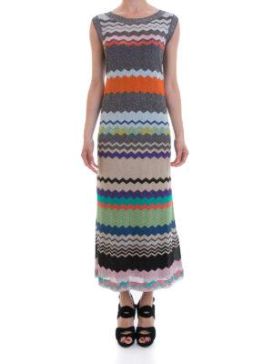 Missoni: maxi dresses online - Chevron pattern straight maxi dress