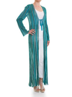 MISSONI: cardigan online - Cardigan lungo in colori fiammati