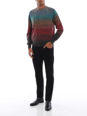 MISSONI: maglia collo rotondo online - Maglia girocollo in lana multicolore