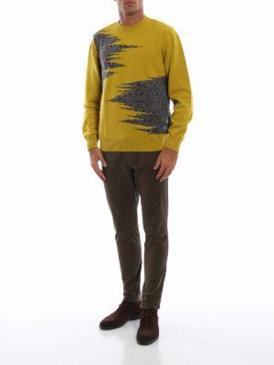MISSONI: maglia collo rotondo online - Pull in lana senape con intarsi fantasia