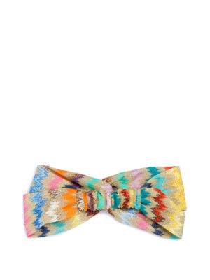 MISSONI: accessori per capelli online - Fascia in viscosa Chevron