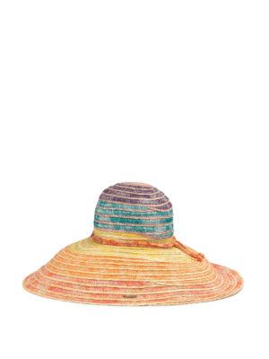 MISSONI: cappelli online - Cappello in paglia multicolore
