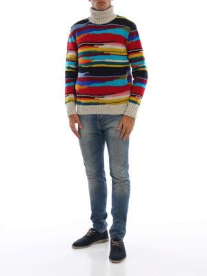 MISSONI: maglia a collo alto e polo online - Dolcevita in pesante lana a righe multicolor